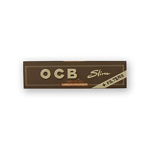 Brand New Ocb Lot Of 5 Slim King Size Rolling Papers+Slim Filters 32 Leaves
