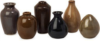 IMAX 35073-6 Mini Vases, Set of - Set Ceramic Vases