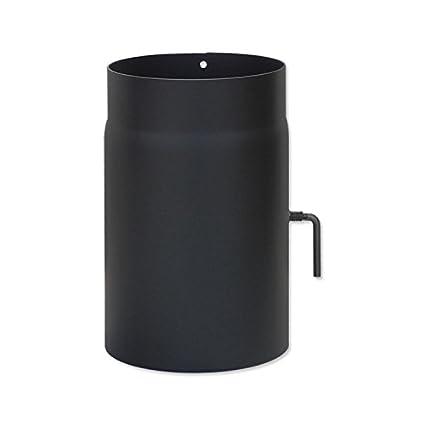 Estufa gas 180 x 250 mm tubo negro tubo chimenea