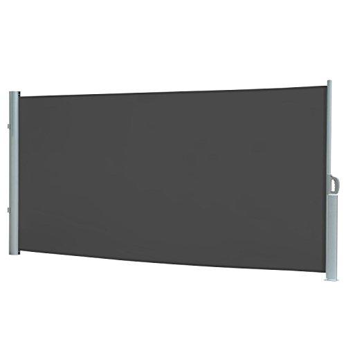 Seitenmarkise, Sichtschutz, Wählen Sie Ihre Größe und Farbe (grau, (H) 200 x (L) 300 cm)