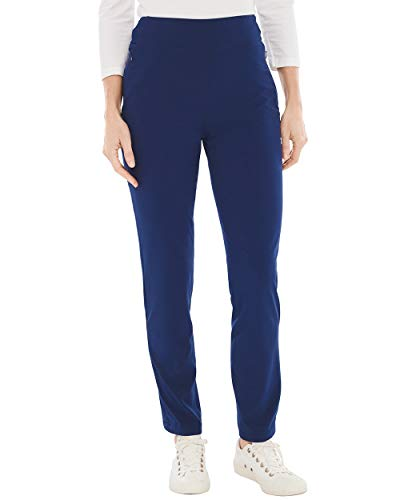 (Chico's Women's Zenergy Neema Knit-Waist Pants Size 10 M (1.5 REG) Blue)