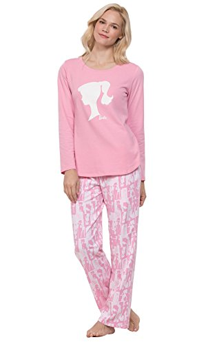 PajamaGram Pajamas Set for Women - Cute PJs for Women, Barbie Pink, L, 12-14