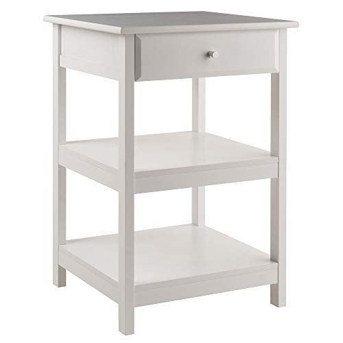 Winsome Wood 10121 Delta Printer Stand White Home Office,