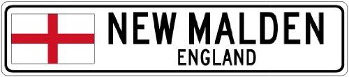 NEW MALDEN, ENGLAND - Flag Aluminum City Sign