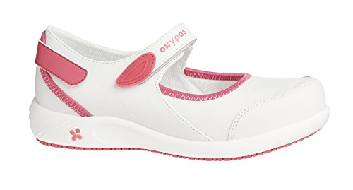 Oxypas Move 'Nelie' Slip-resistant, Antistatic Leather Nursing Shoes with Coolmax Lining,5.5 UK(39 EU)