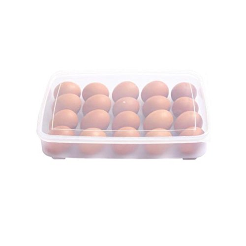 Single Layer Refrigerator Food 20 Eggs Airtight Storage cont