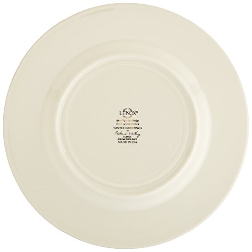 Amazon.com: Lenox Winter Greetings Set Of 6 Salad Plates,Ivory ...