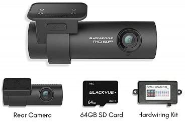 Blackvue DR750S-2CH Dash Cam 64GB Memory Card and hardwire kit Power Magic Pro