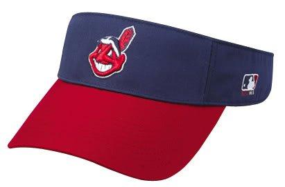 Cleveland Indians Officially Licensed MLB Adjustable Velcro Adult Visor – DiZiSports Store