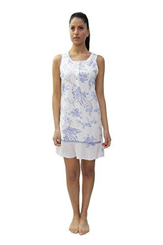 Cotone Camicia Larga Serafino in da FIDA Spalla Notte Modello wIHdcYq