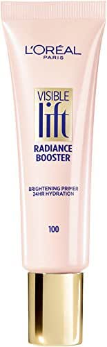 L'Oréal Paris Makeup Visible Lift Radiance Booster, skincare-based primer, 24hr hydration, instantly brightens, smoothes and evens skin, radiant finish, enriched with nourishing oils, 0.84 fl. oz.