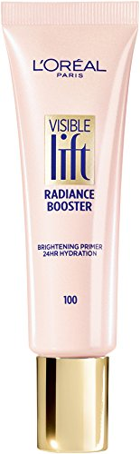 Face Lift Cosmetics - L'Oréal Paris Makeup Visible Lift Radiance Booster, skincare-based primer, 24hr hydration, instantly brightens, smoothes and evens skin, radiant finish, enriched with nourishing oils, 0.84 fl. oz.