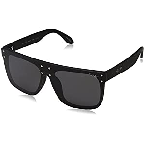 Quay Women's #QUAYXKYLIE Hidden Hills Sunglasses, Black/Smoke, One Size