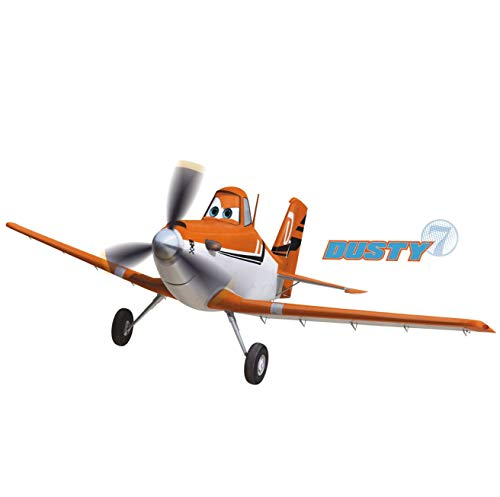(RoomMates Planes - Dusty The Plane Peel And Stick Giant Wall Decals)