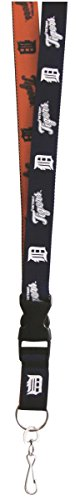 Detroit Tigers 2-Tone PSG Premium Lanyard 2-sided Breakaway Clip Keychain Baseball -