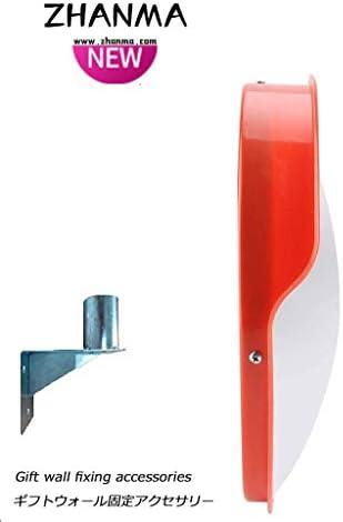 カーブミラー アウトドアRodeのための凸面鏡監視ミラー交通セキュリティミラーPCプラスチックオレンジ45センチメートル60センチメートル80センチメートル100センチメートル、取付金具を送ります RGJ4-25 (Size : 300mm)