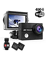 Upgrade TENKER K1 4k Action Camera with Selfie Stick