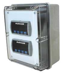 Flowline LM93-1001 Polycarbonate Windowed Dual Indicator NEMA Box with 1/8 DIN Cover