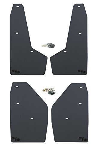 RokBlokz Mud Flaps for 2017+ Ford Raptor - Set of 4 - Multiple Colors Available - Includes All Mounting Hardware (Black with Black Logo)
