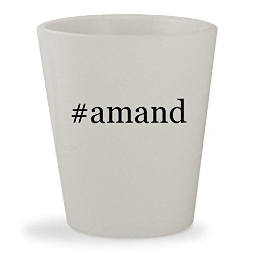 #amand - White Hashtag Ceramic 1.5oz Shot Glass