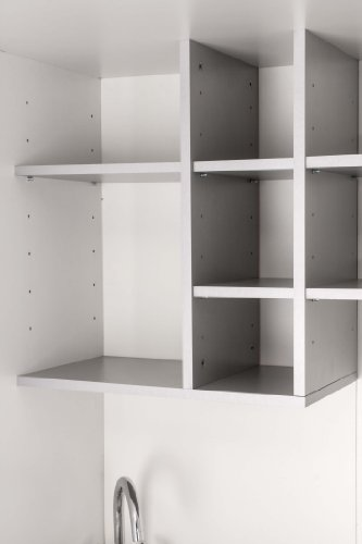 Mebasa MK0011S Schrankküche, Miniküche, Single Küche in Silber ... | {Schrankküche büro 67}