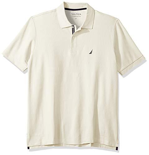 Nautica Men's Classic Fit Short Sleeve Solid Performance Deck Polo Shirt, Sail Cream, 3X Big ()