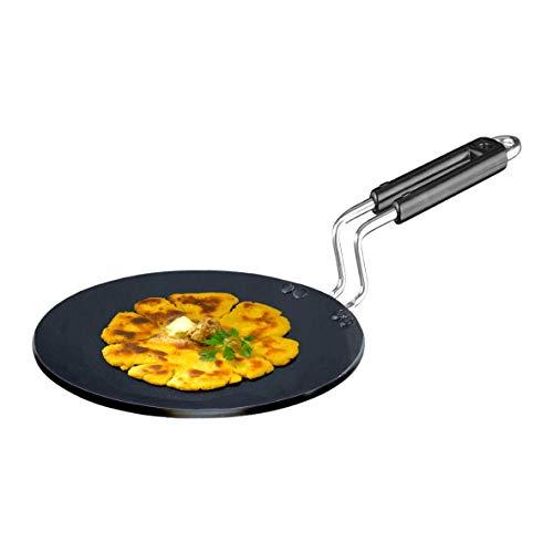Usha Shriram Induction Base Hard Anodised Roti Tawa Wire Handle with Sleeve 25 cm  Induction  amp; Gas Compatible