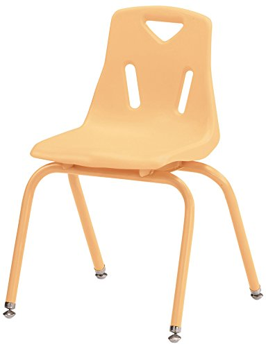 Berries Stacking Chairs with Powder-Coated Legs Camel//14 Seat Height
