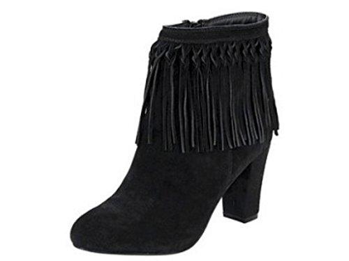 Heine - Botas de Piel para mujer negro negro