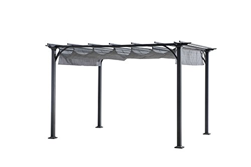 Sunjoy 10' x 8' Naples Pergola top, Gray