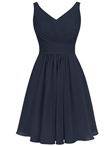 Marine Manche Cérémonie cou Rockabilly Robe V Princesse Courte Bleu Mariage Soirée Pour Femme Sans Huini Cocktail 1UqwTBg