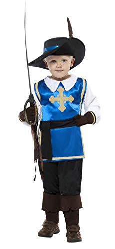 Smiffy's Musketeer Child Costume - Blue,   Small ()