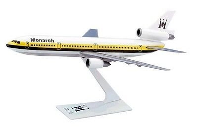 Monarch (84-02) DC-10 Airplane Miniature Model Plastic Snap-Fit 1:250 Scale Part# ADC-01000I-012