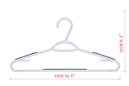 AzxecVcer Plastic Hangers with Black Non-slip Pads Clothes/Suit Hangers,Perfect for Dresses, Blouses and Pants, Shirts, Ties, Scarves and Sweaters,30 pack