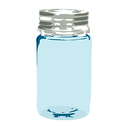 (Home Comforts Laminated Poster Blue Glass Jar Clipart Illustrations Poster Print 24x 36)