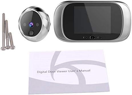LQNB 2.8 Pulgadas LCD Pantalla una Color Timbre de la Puerta Digital Mirilla Electr/ónica Visi/ón Nocturna Sensor de Movimiento Puerta Visor de la C/ámara Plata