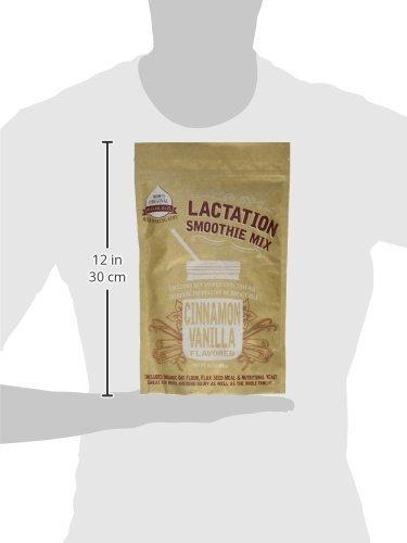 Mom's Original Milk Making Aids Cinnamon Vanilla Lactation Smoothie Mix without Fenugreek 14 Shakes/Bag