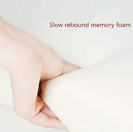 Ecloud Shop/® Almohada de Espuma de Memoria Almohada Cervical Ajustable Soporte de Cuello de Almohada de Apoyo de la Cama de Apoyo para Las Personas Que Duermen de Espalda y de costado Azul