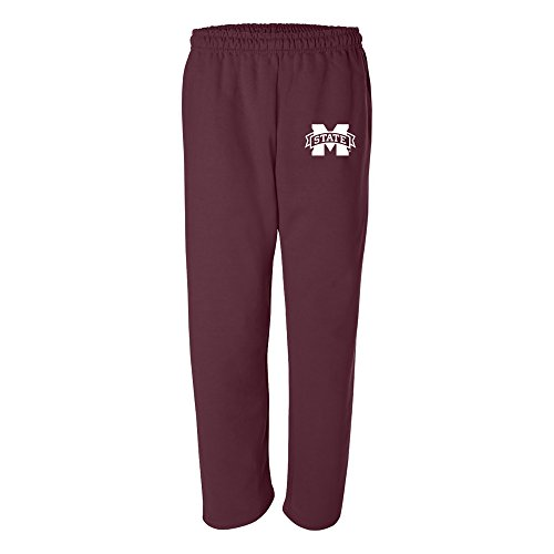 UGP Campus Apparel AB02 - Mississippi State Bulldogs Primary Logo Sweatpants - Medium - - Mens Apparel Promotional