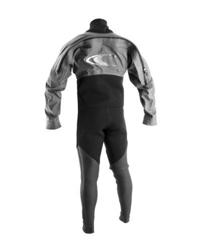 O'Neill Wetsuits Assault Hybrid Drysuit  ,Black/Graphite, Medium