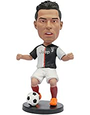 Football, European Cup, World Cup Star Statue, Footballer's Doll The Dummy of The Model World Cup Star Home Decoration Crafts Statue for Home Car Desktop Cake Decorations (C)
