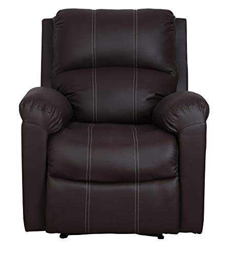 Recliners India Leatherette Manual  Finish Color   Brown
