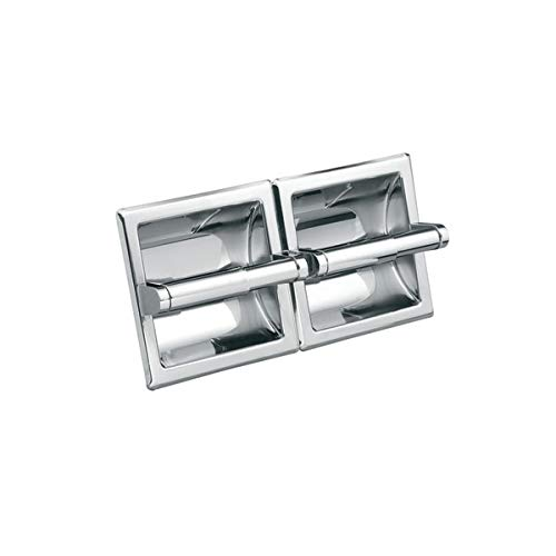 Moen CSI5577 Recessed Double Roll Toilet Paper Holder from The Donner Hotel Motel Collection