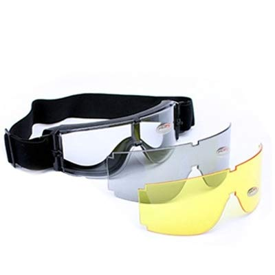 X800 Tactical Goggle UV400 Protection with Transparent/Black/Yellow for sale  Delivered anywhere in Canada