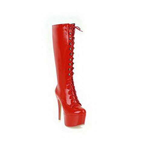 5 36 Abl12044 Rouge Femme Plateforme Balamasa Red wz4qYwx
