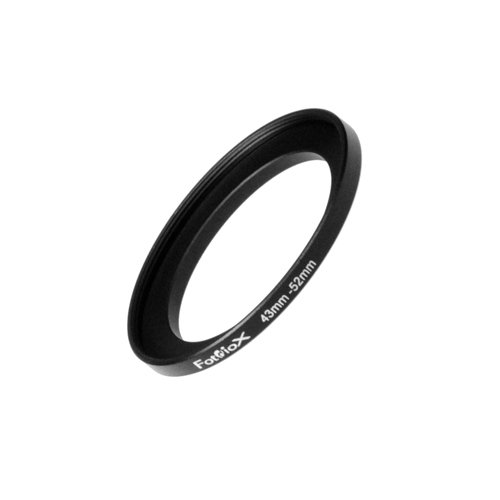 Fotodiox Metal Step Up Ring Filter Adapter, Anodized Black Aluminum 43mm-52mm, 43-52 mm