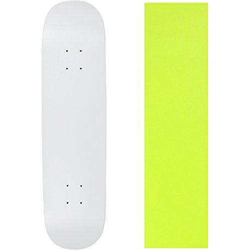 "UPC 742091196193, Skateboard Deck Blank Dipped White 7.75"" Yellow Grip"