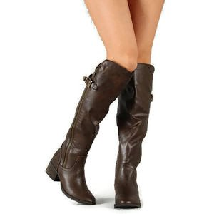 Bronco-14 Tall Women Riding Equestrian Knee High Boots Lt Brown qB4WjHi