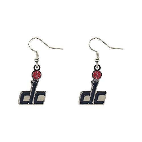 Washington Wizards''DC'' - NBA Team Logo Dangler Earrings by aminco