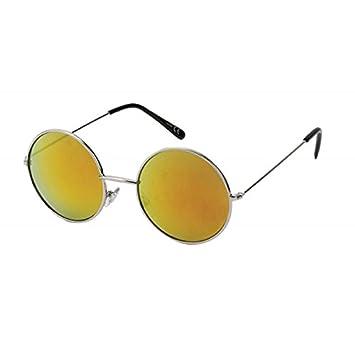 c73a9e20d1281 Chic-Net Lunettes de Soleil Ronde John Lennon Argent de Style 400 UV Miroir  Métal